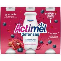 Yogur para beber de granada-arándanos-maca ACTIMEL, pack 6x100 g