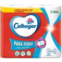 Papel de cocina paratodo COLHOGAR, paquete 2 rollos