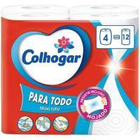 Papel de cocina mega XXL COLHOGAR, paquete 4 rollos