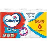 Papel de cocina mega XXL COLHOGAR, paquete 6 rollos