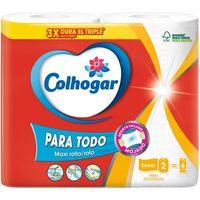 Papel cocina XXL deco COLHOGAR, paquete 2 rollos