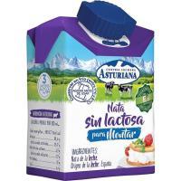 Nata para montar sin lactosa ASTURIANA, brick 200 ml