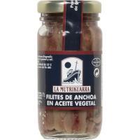 Anchoa en aceite vegetal MUTRIKUARRA, frasco 60 g