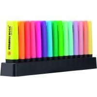 Marcador fluorescente, colores: 9 fluor, 6 Pastel Boss STABILO, Pack 15uds