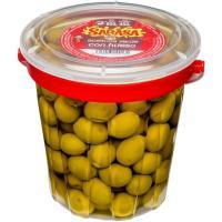 Aceitunas verdes sabor manzanilla con hueso SARASA, frasco 450 g