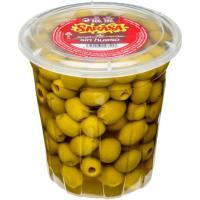 Aceitunas verdes sabor manzanilla sin hueso SARASA, frasco 380 g
