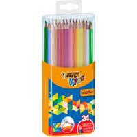 Lápices colores con sacapuntas evolution BIC, 24 uds