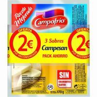 Salchichas de queso CAMPESAN CAMPOFRIO, pack 3x170 g