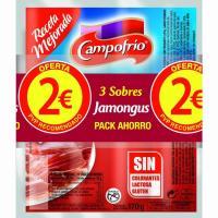 Salchicha de jamón JAMONGUS CAMPOFRIO, pack 3x170 g