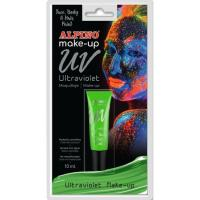 Maquillaje ultravioleta verde ALPINO, Tubo 10 ml