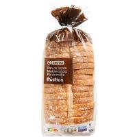 Pan de molde rústico EROSKI, paquete 550 g
