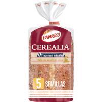 Pan 5 semillas 0% azúcar añadido PANRICO, paquete 435 g