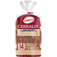 Pan 14 semillas 0% azúcar añadido PANRICO, paquete 435 g