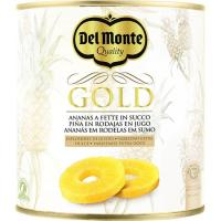 Piña Gold en rodajas DEL MONTE, lata 510 g