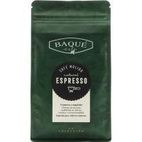 Café molido espresso BAQUÉ, caja 250 g