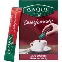 Café soluble descafeinado BAQUÉ, caja 10 sobres