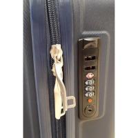 Trolley cabina ABS rígido: 4ruedas, candado, extensible, azul MATTEO FERRETTI, 1ud