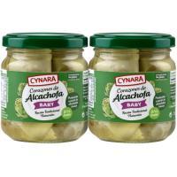Corazones de alcachofa 8/12 frutos CYNARA, pack 2x212 g