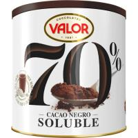 Cacao soluble negro 70% VALOR, lata 300 g