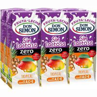 Lactozumo Tropical sin lactosa DON SIMON, pack 6x200 ml