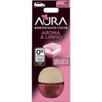 Ambientador coche aroma limpio AURA, pack 1 ud.