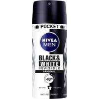 Desodorante para hombre invisible B&W orig. NIVEA, spray 100 ml