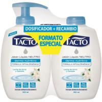 Jabon líquido de manos con leche de arroz TACTO, pack 2x300 ml