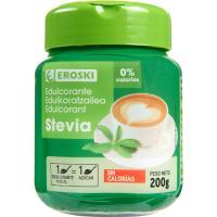 Edulcorante stevia EROSKI, frasco 200 g
