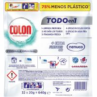Detergente gel en cápsulas nenuco COLON, bolsa 32 dosis