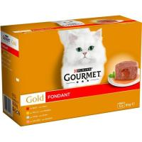 Alimento gato fondant mix mp GOURMET Gold, pack 12x85 g