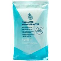 Toallitas desodorantes formato bolsillo belle, paquete 10 uds.