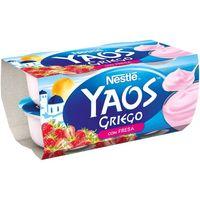 Yogur griego de fresa NESTLÉ, pack 4x110 g