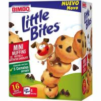 Minimuffin con pepitas de choco LITTLE BITES, caja 188 g