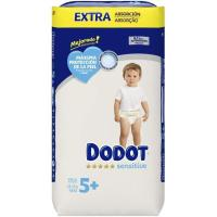 Pañal 12-17 kg Talla 5 Extra DODOT Sensitive, paquete 48 uds