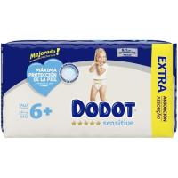Pañal 14 kg+ Talla 6 Extra DODOT Sensitive, paquete 44 uds.