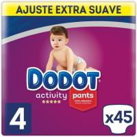 Pañal Pants 9-15 kg T. 4 Extra DODOT Activity, paquete 45 uds