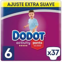Pants 16 kg+ Talla 6 Extra DODOT Activity, paquete 37 uds