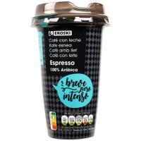 Café espresso EROSKI, vaso 250 ml