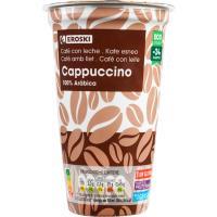 Café cappuccino EROSKI, vaso 250 ml