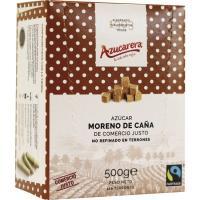 Terrones de azúcar moreno sin envasar AZUCARERA, caja 500 g