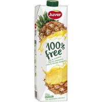 Zumo 100% free de piña JUVER, brik 1 litro