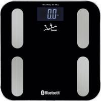 Báscula de baño analizador con Bluetooth negra de acero inoxidable, 3 pilas AAA no incluídas JATA