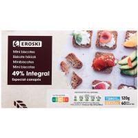 Mini biscottes integrales EROSKI Sannia, caja 120 g