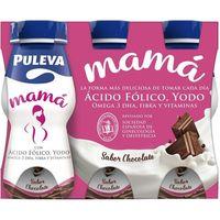 Preparado lácteo mamá sabor chocolate PULEVA, botellín 100 ml