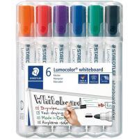 Rotuladores para pizarra blanca, recargables, 6 colores STAEDTLER, Pack 6uds