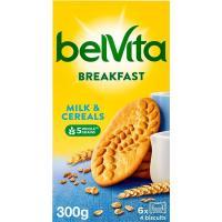 Galleta Belvita de leche-cereales FONTANEDA, caja 300 g