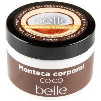 Manteca corporal ultrahidratante de coco belle, tarro 300 ml
