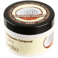 Exfoliante corporal de coco para piel normal belle, tarro 300 ml