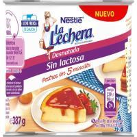 Leche condensada desnatada sin lactosa LA LECHERA, lata 387 g