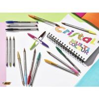 Bolígrafo punta ancha 1,6 mm, colores surtidos Cristal Multicolour BIC, Pack 15uds